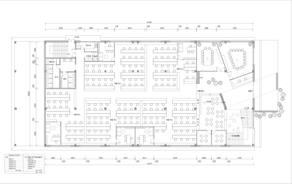 上海丽人丽妆办公室设计平面方案图片