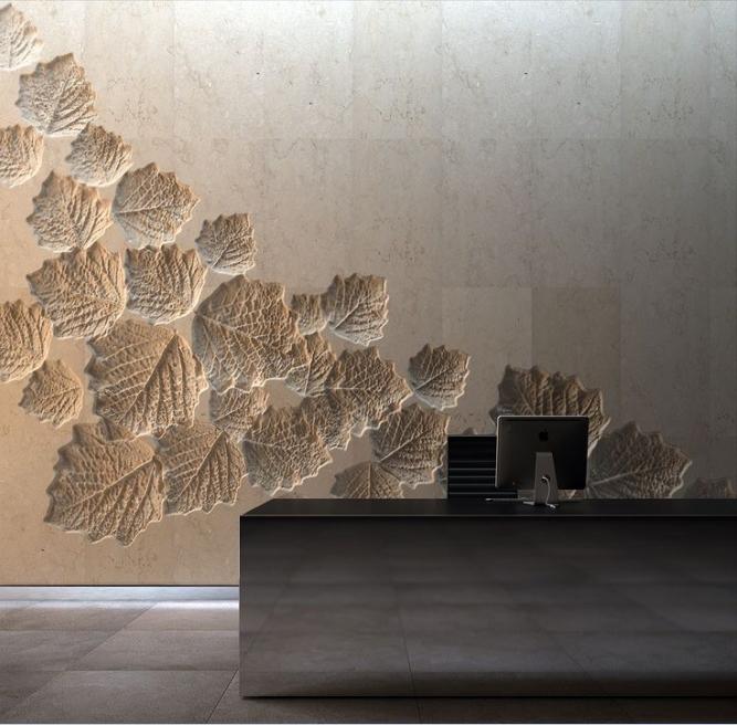 前台背景墙设计效果图