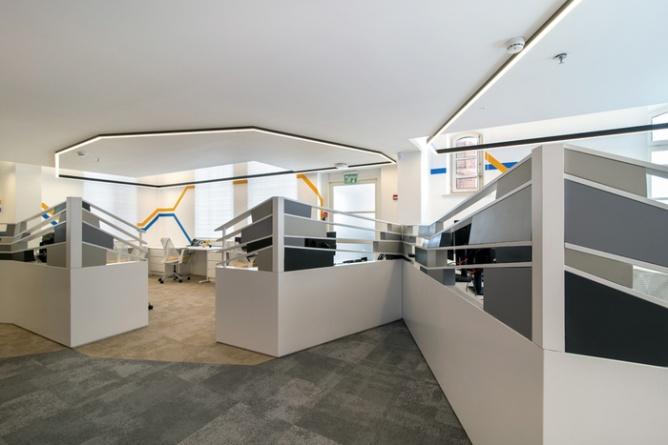 办公室的设计而设计,遵旨在为已经由传统的大企业购买一个年轻的创业