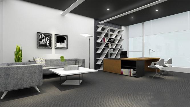 办公室装修以方形为设计元素-办公空间