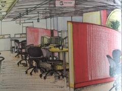 员工办公空间设计手绘
