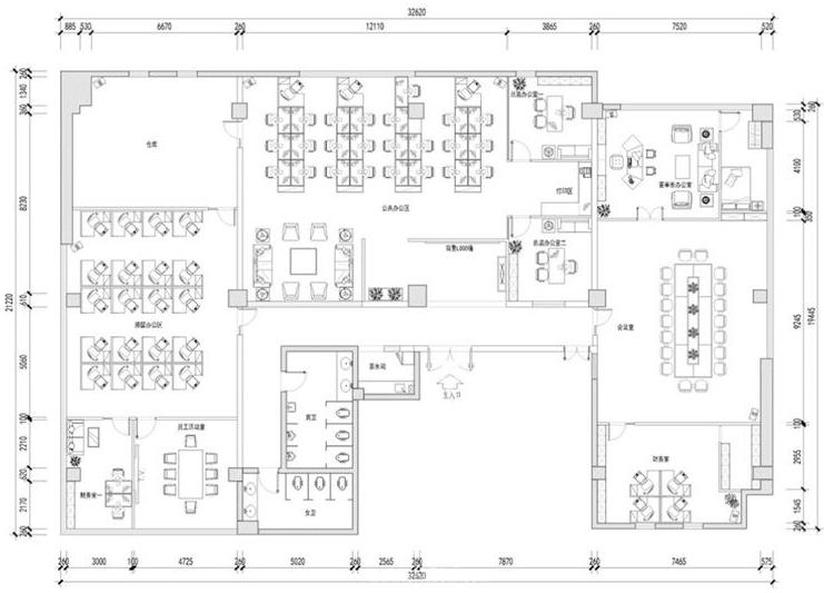 400平方米办公室装修案例