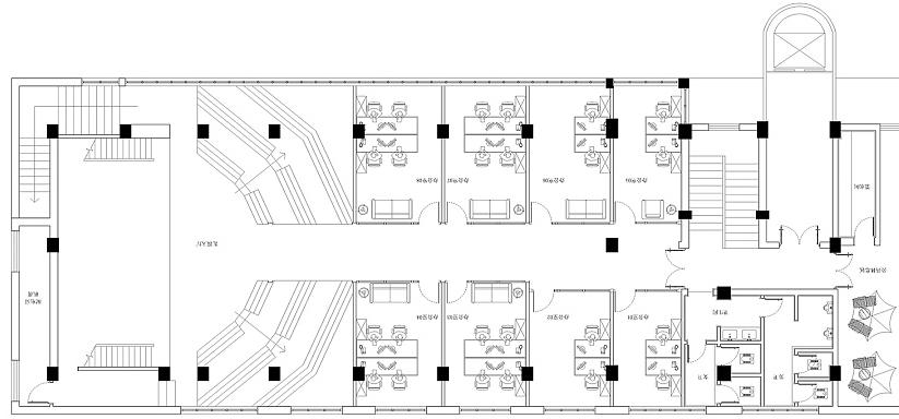 960平米二层办公室装修方案-写字楼设计要点