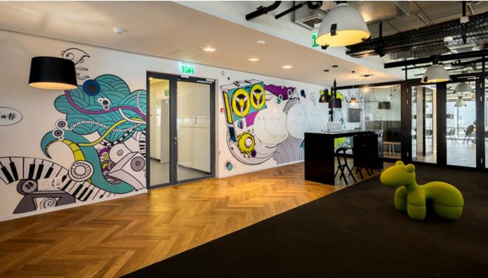 插畫盛宴的軟件公司辦公室設計