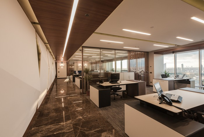 湯臣金融大廈金融公司辦公室裝修