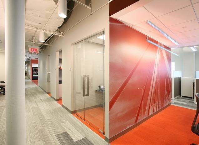 动感型办公室设计效果图