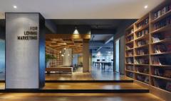 办公室设计把图书馆搬