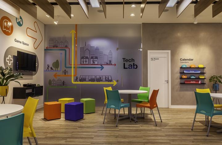 工程案例 办公室   少儿英语培训机构办公室装修,办公室设计面积为580
